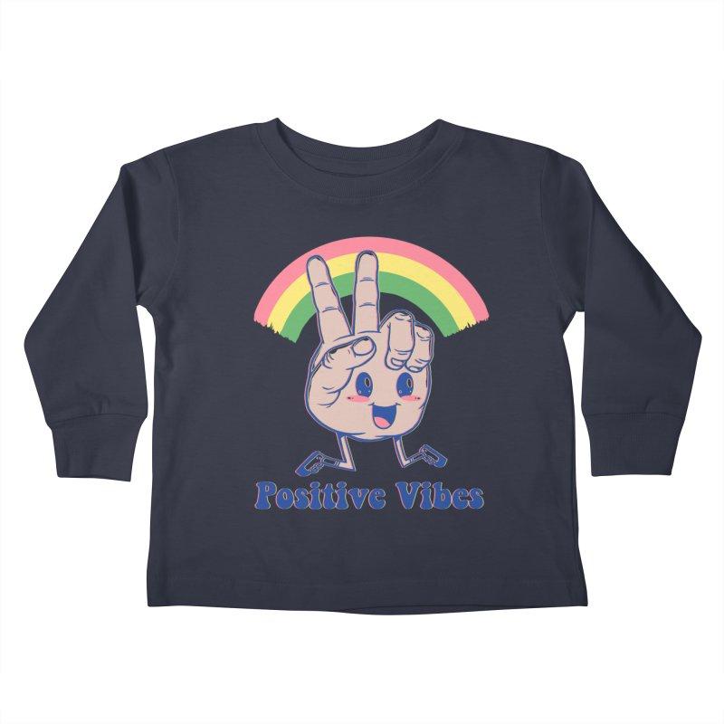 Positive Vibes Kids Toddler Longsleeve T-Shirt by Vincent Trinidad