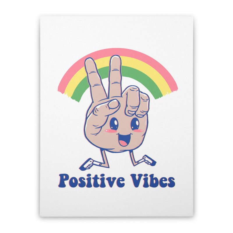 Positive Vibes Home Stretched Canvas by Vincent Trinidad Art