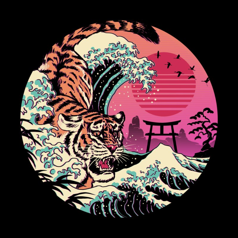 Rad Tiger Wave by Vincent Trinidad Art