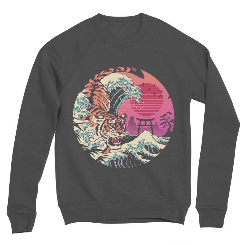 Rad Tiger Wave Women's Sponge Fleece Sweatshirt by Vincent Trinidad Art