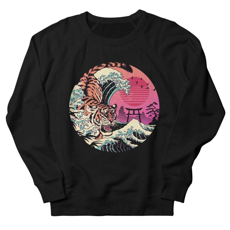 Rad Tiger Wave Men's French Terry Sweatshirt by Vincent Trinidad Art
