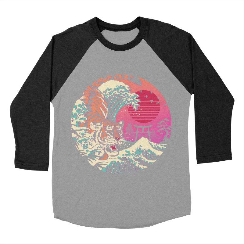 Rad Tiger Wave Women's Baseball Triblend Longsleeve T-Shirt by Vincent Trinidad Art