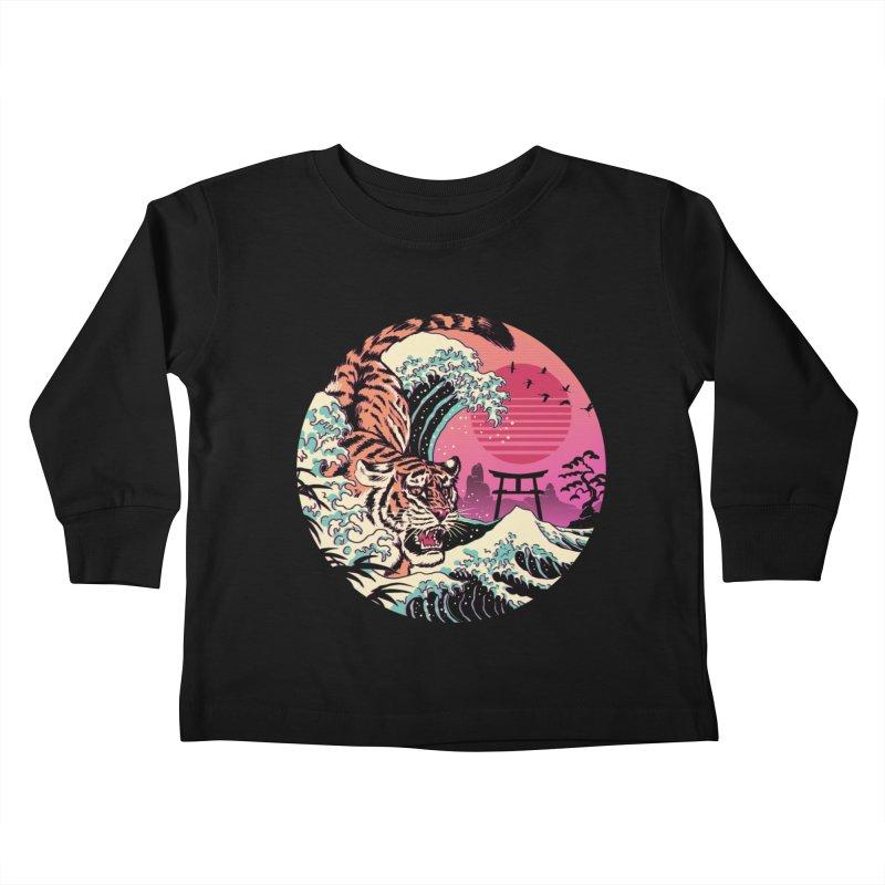 Rad Tiger Wave Kids Toddler Longsleeve T-Shirt by Vincent Trinidad