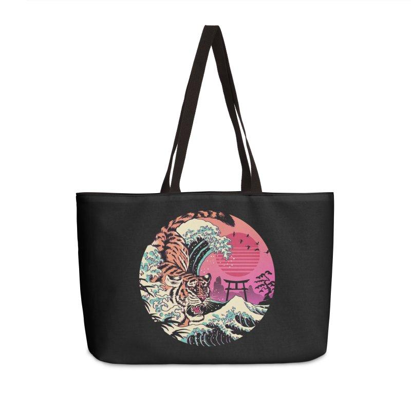 Rad Tiger Wave Accessories Weekender Bag Bag by Vincent Trinidad Art