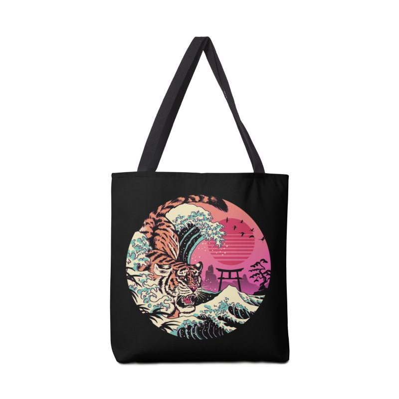 Rad Tiger Wave Accessories Tote Bag Bag by Vincent Trinidad Art