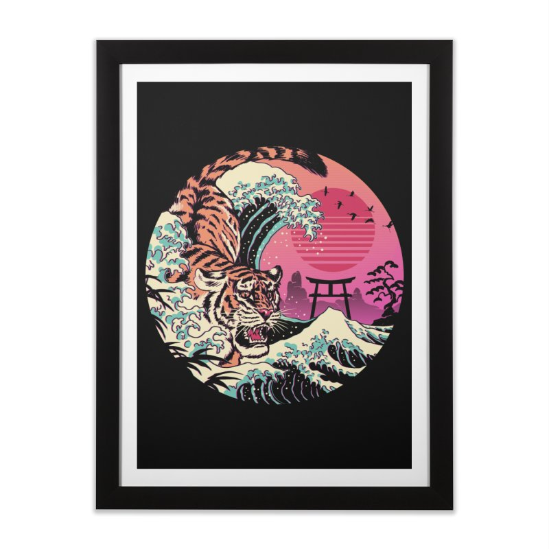 Rad Tiger Wave Home Framed Fine Art Print by Vincent Trinidad