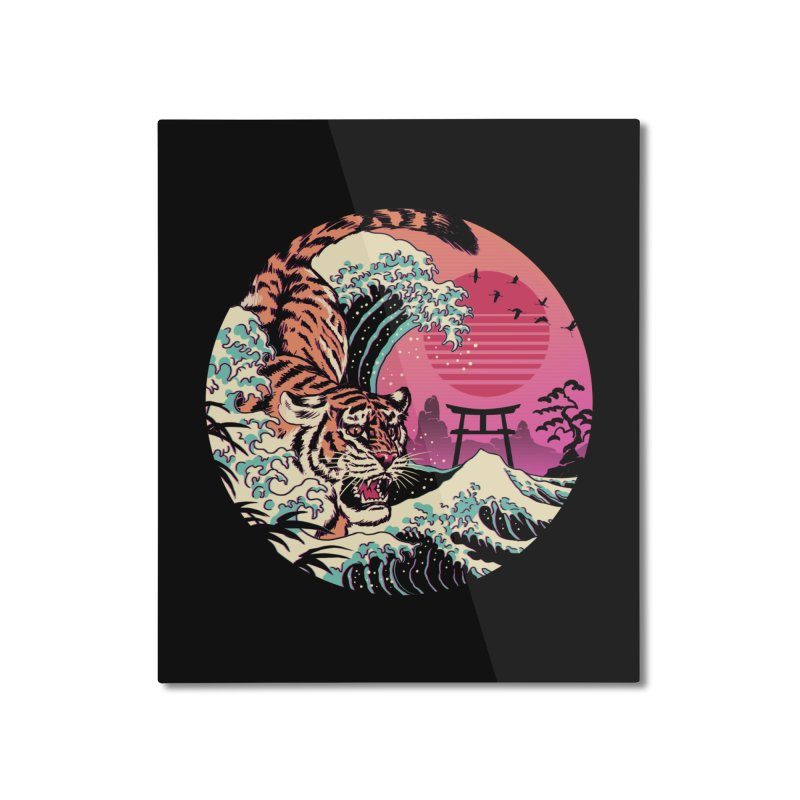 Rad Tiger Wave Home Mounted Aluminum Print by Vincent Trinidad