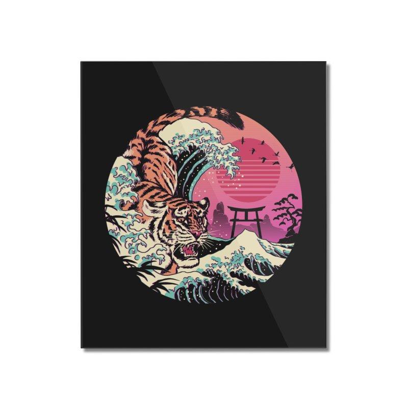 Rad Tiger Wave Home Mounted Acrylic Print by Vincent Trinidad
