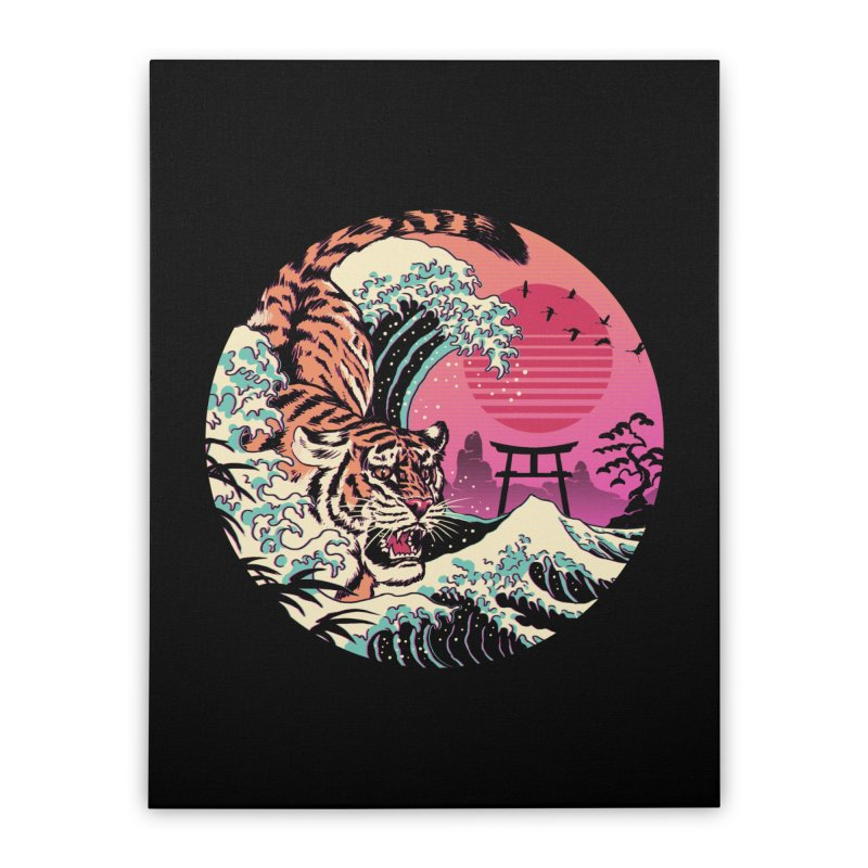 Rad Tiger Wave Home Stretched Canvas by Vincent Trinidad Art