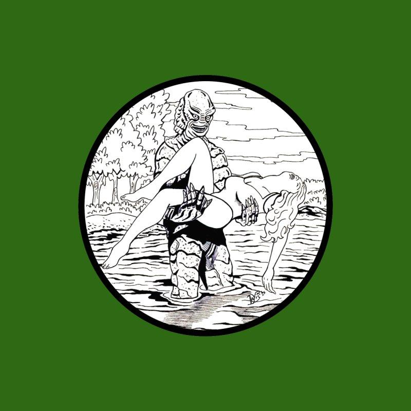 """The Gill-Man in the Lagoon"" Men's T-Shirt by VinDavisDesigns"