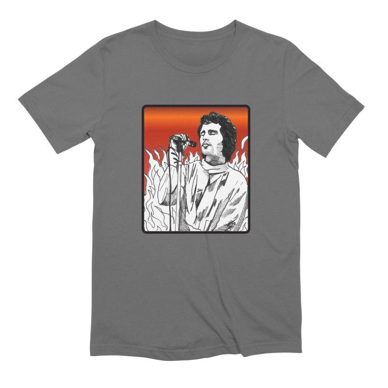 """JIM MORRISON- """"WORLD ON FIRE"""" Men's T-Shirt by VinDavisDesigns"""