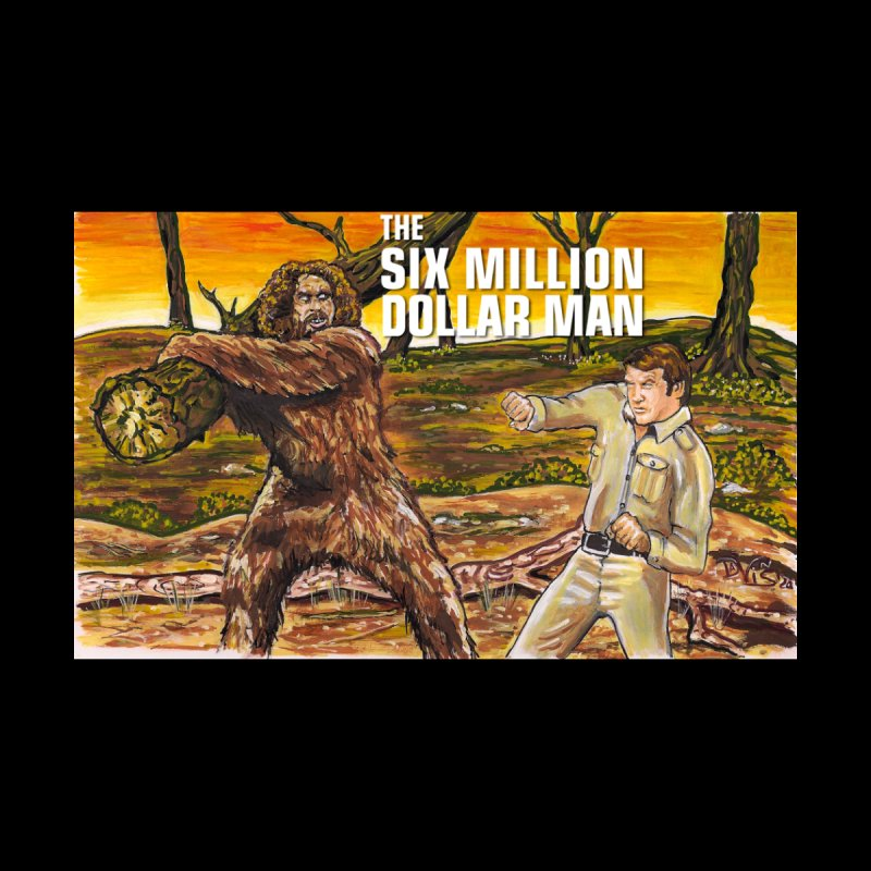 """THE BIONIC MAN VS. BIGFOOT"" Men's T-Shirt by VinDavisDesigns"