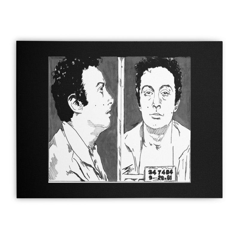 """LENNY BRUCE- """"Mugshot"""" Home Stretched Canvas by VinDavisDesigns"""