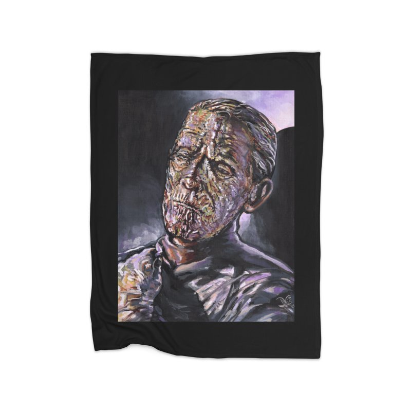 Karloff as Imhotep (The Mummy) Home Blanket by VinDavisDesigns