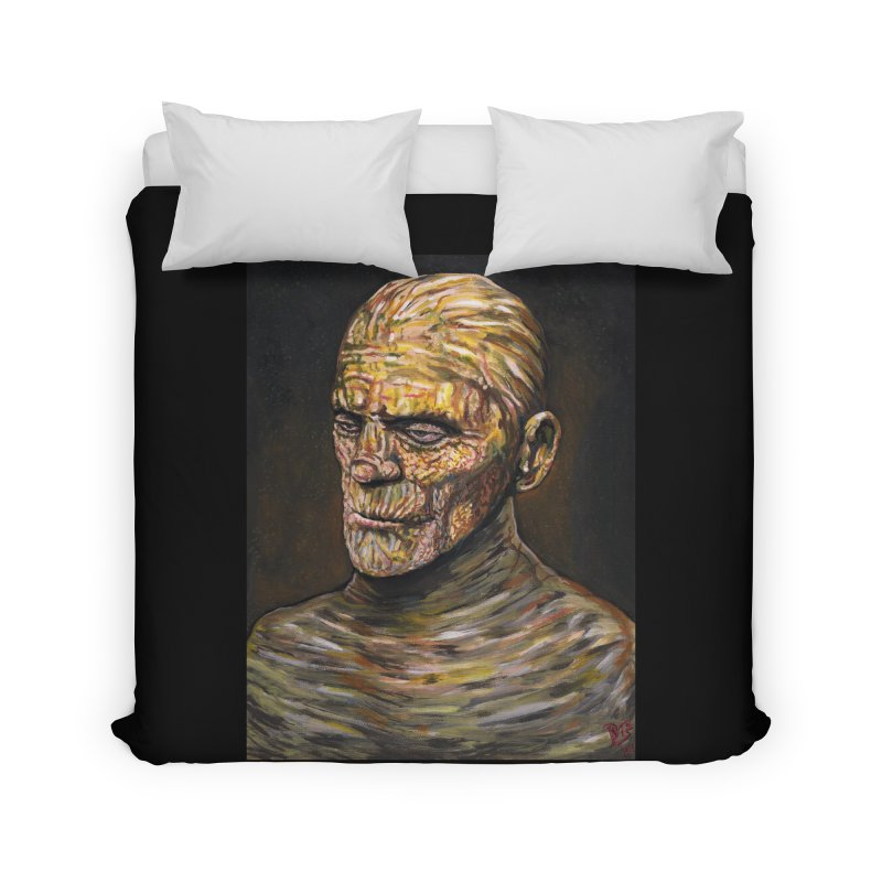 "Karloff ""The Mummy"" Home Duvet by VinDavisDesigns"