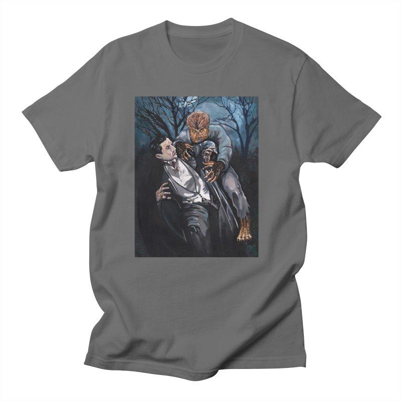 The Wolf Man Vs. Dracula Men's T-Shirt by VinDavisDesigns