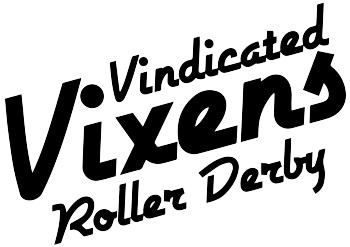 Vindicated Vixens Roller Derby Logo