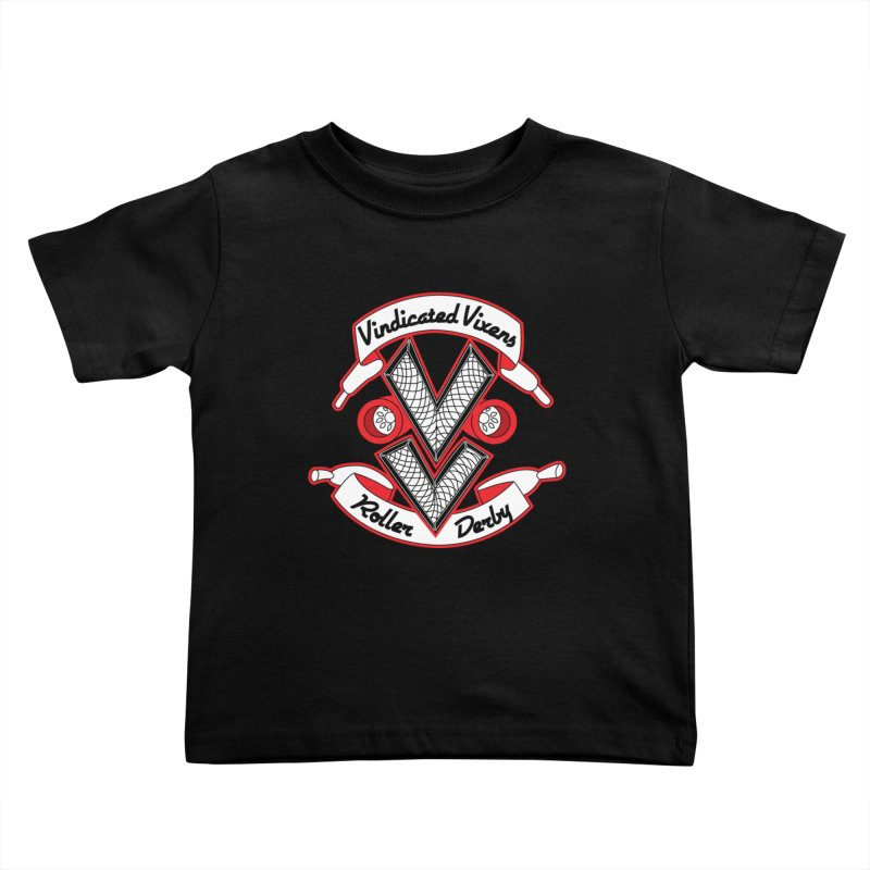 Logo [Light] Kids Toddler T-Shirt by Vindicated Vixens Roller Derby