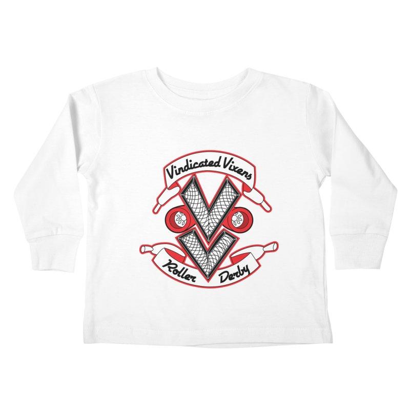 Logo [Light] Kids Toddler Longsleeve T-Shirt by Vindicated Vixens Roller Derby