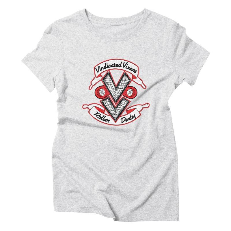 Logo [Light] Women's Triblend T-Shirt by Vindicated Vixens Roller Derby