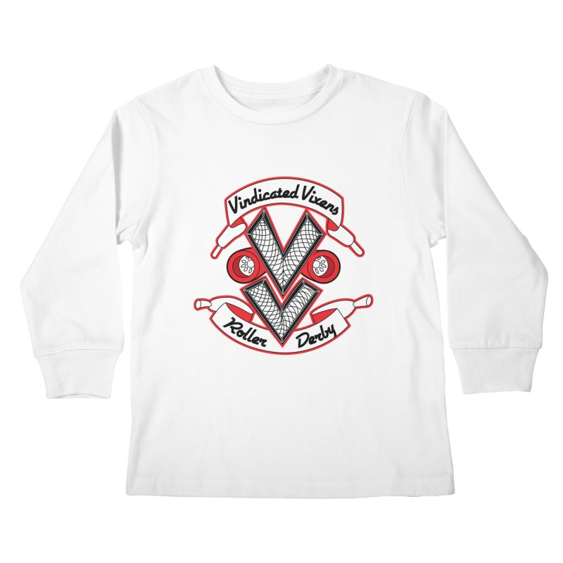 Logo [Light] Kids Longsleeve T-Shirt by Vindicated Vixens Roller Derby