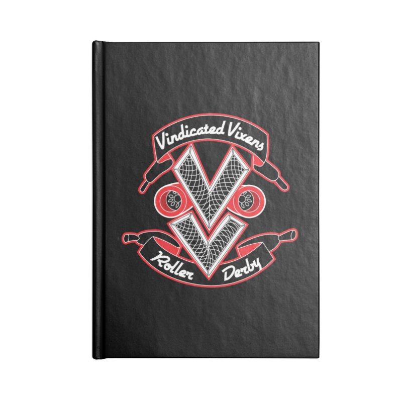 Logo [Dark] Accessories Lined Journal Notebook by Vindicated Vixens Roller Derby