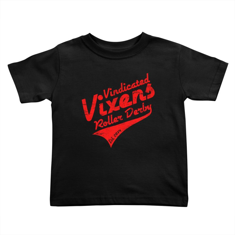 Vintage [Red] Kids Toddler T-Shirt by Vindicated Vixens Roller Derby