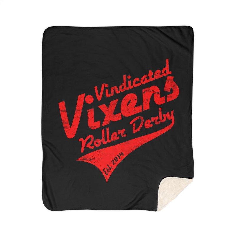 Vintage [Red] Home Sherpa Blanket Blanket by Vindicated Vixens Roller Derby