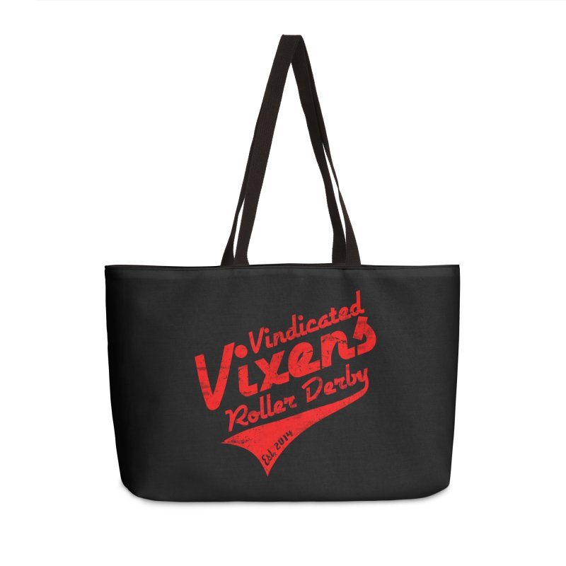 Vintage [Red] Accessories Weekender Bag Bag by Vindicated Vixens Roller Derby