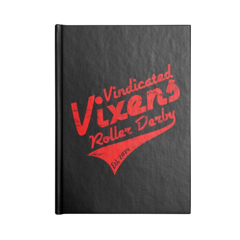 Vintage [Red] Accessories Lined Journal Notebook by Vindicated Vixens Roller Derby