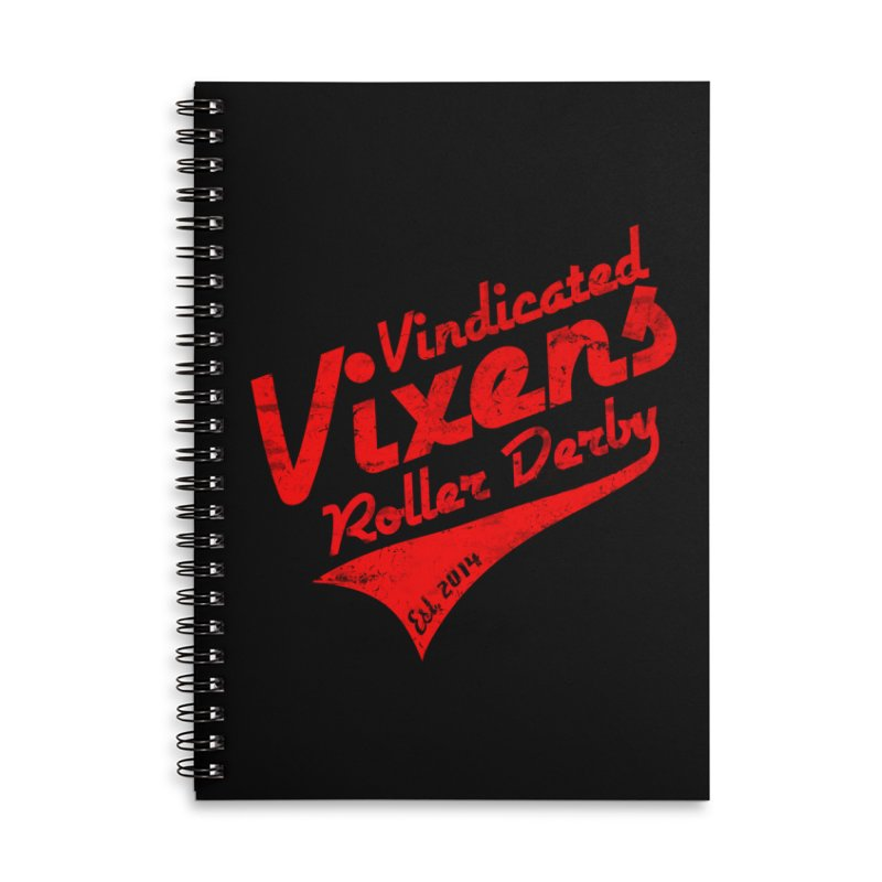 Vintage [Red] Accessories Lined Spiral Notebook by Vindicated Vixens Roller Derby