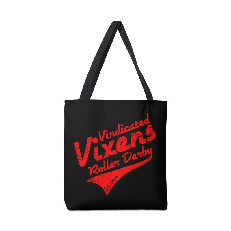 Vintage [Red] Accessories Tote Bag Bag by Vindicated Vixens Roller Derby