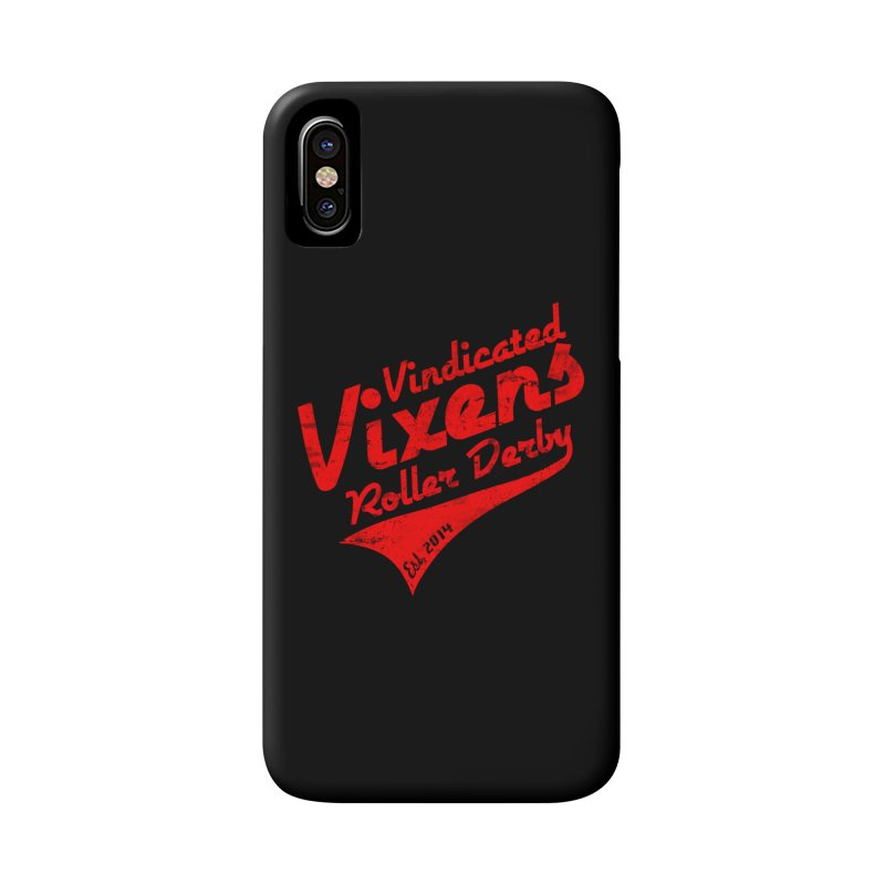 Vintage [Red] Accessories Phone Case by Vindicated Vixens Roller Derby