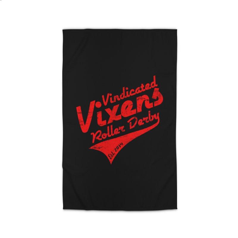 Vintage [Red] Home Rug by Vindicated Vixens Roller Derby