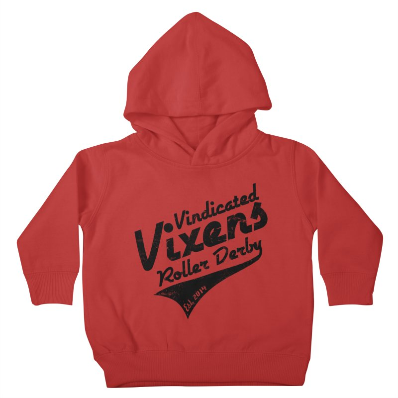 Vintage [Black] Kids Toddler Pullover Hoody by Vindicated Vixens Roller Derby