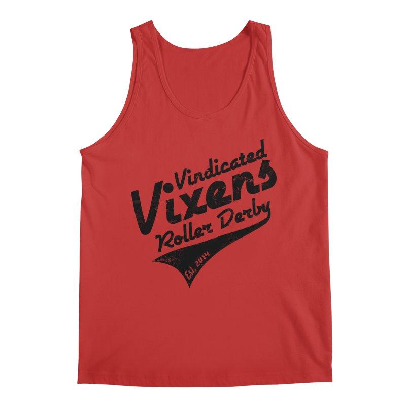 Vintage [Black] Men's Regular Tank by Vindicated Vixens Roller Derby
