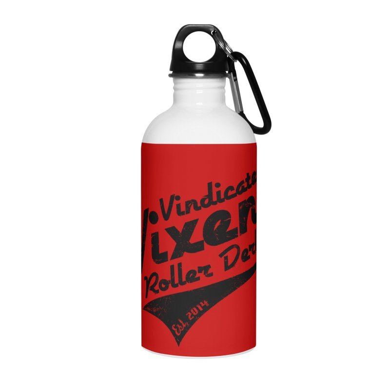 Vintage [Black] Accessories Water Bottle by Vindicated Vixens Roller Derby