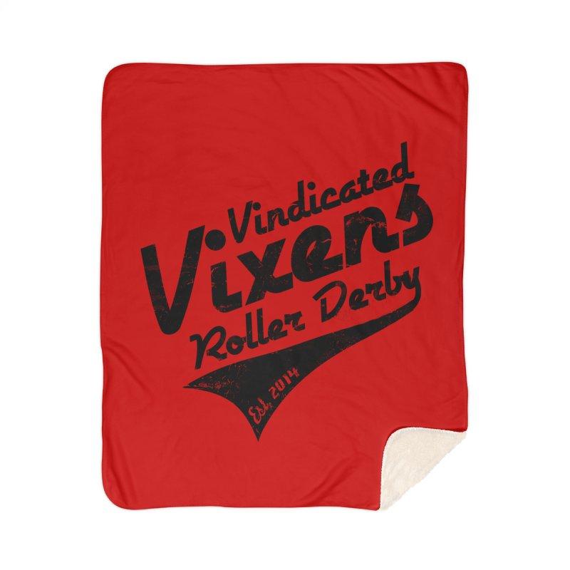 Vintage [Black] Home Sherpa Blanket Blanket by Vindicated Vixens Roller Derby