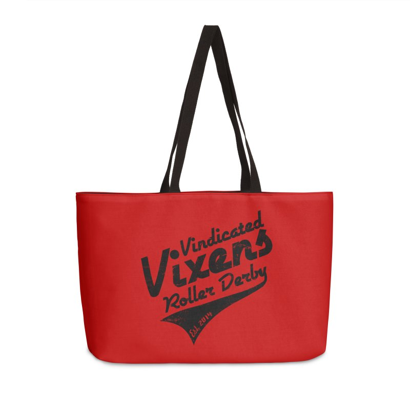 Vintage [Black] Accessories Weekender Bag Bag by Vindicated Vixens Roller Derby