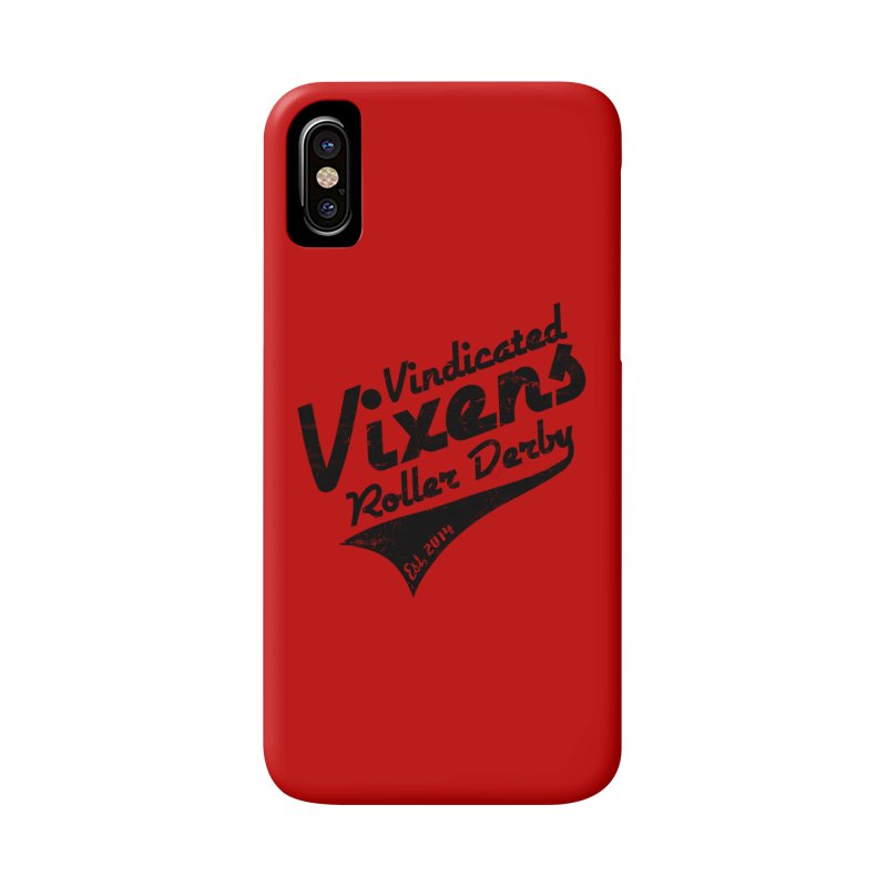 Vintage [Black] Accessories Phone Case by Vindicated Vixens Roller Derby