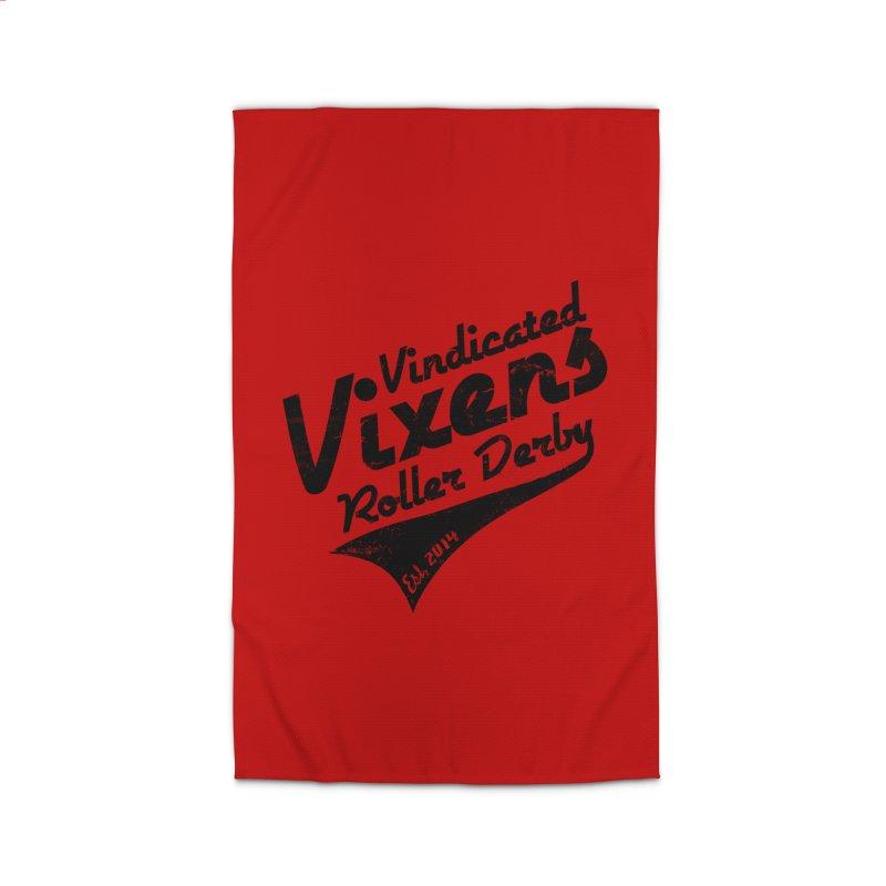 Vintage [Black] Home Rug by Vindicated Vixens Roller Derby