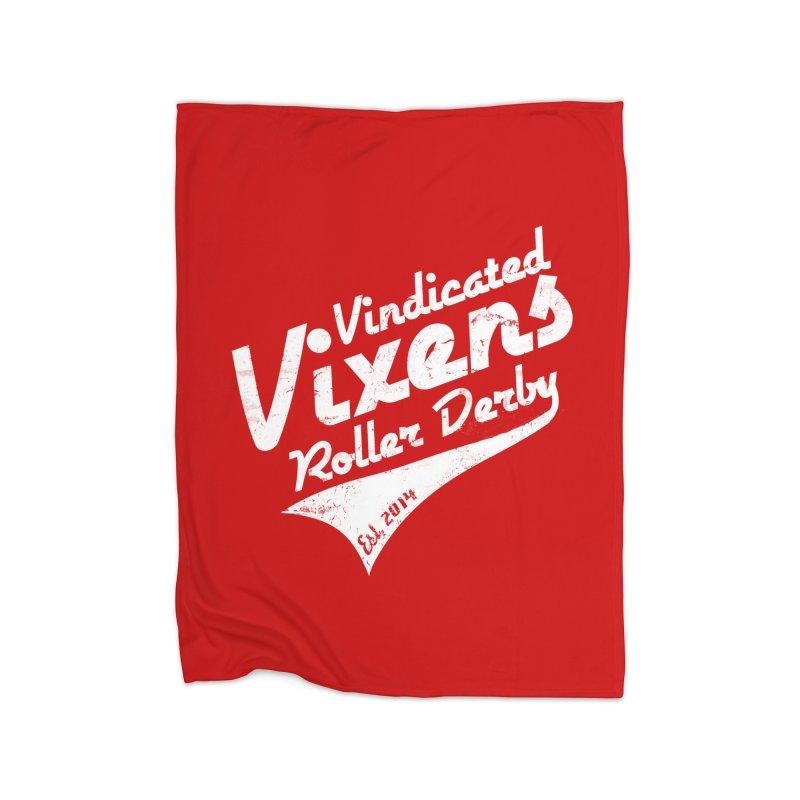 Vintage [White] Home Fleece Blanket Blanket by Vindicated Vixens Roller Derby