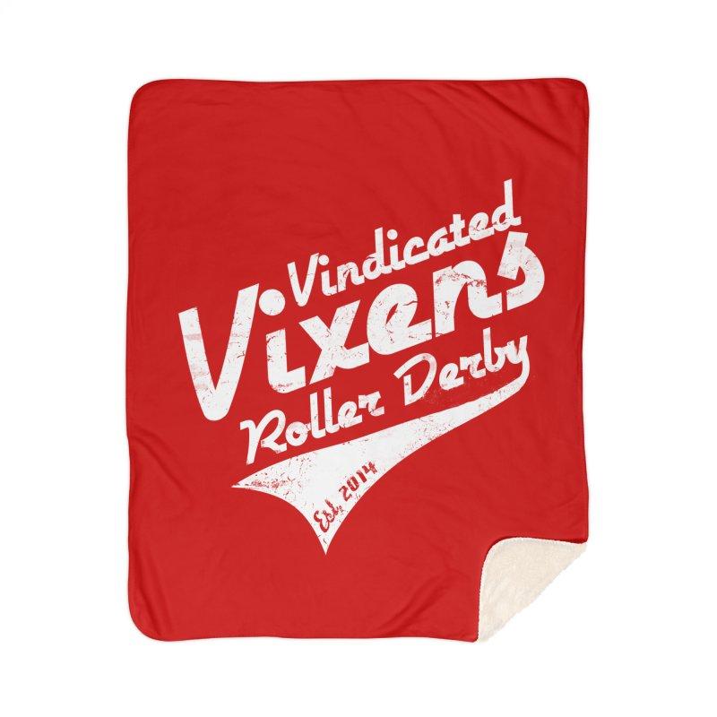Vintage [White] Home Sherpa Blanket Blanket by Vindicated Vixens Roller Derby