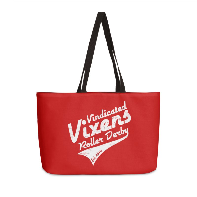Vintage [White] Accessories Weekender Bag Bag by Vindicated Vixens Roller Derby