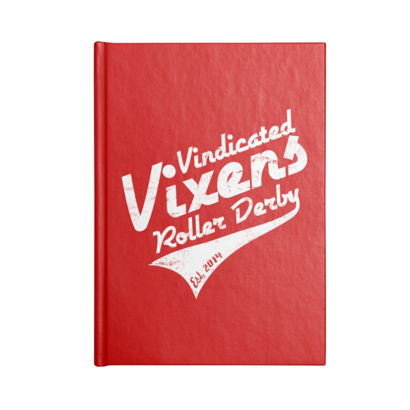 Vintage [White] Accessories Lined Journal Notebook by Vindicated Vixens Roller Derby