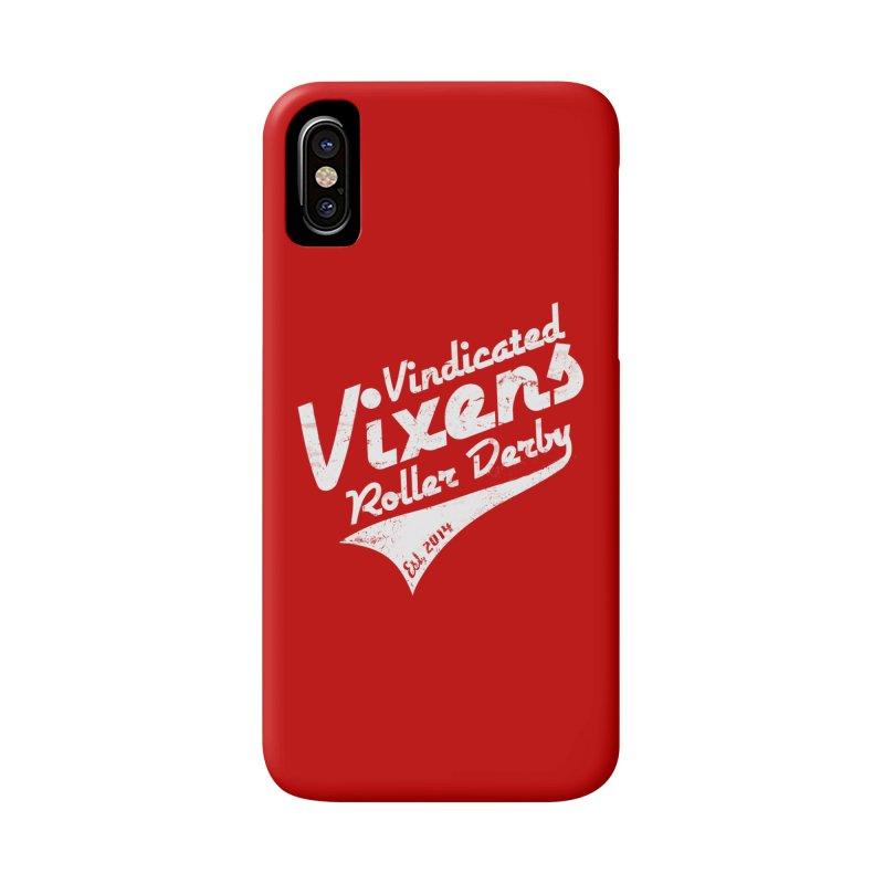 Vintage [White] Accessories Phone Case by Vindicated Vixens Roller Derby