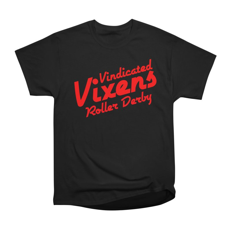 Classic [Red] Men's Heavyweight T-Shirt by Vindicated Vixens Roller Derby