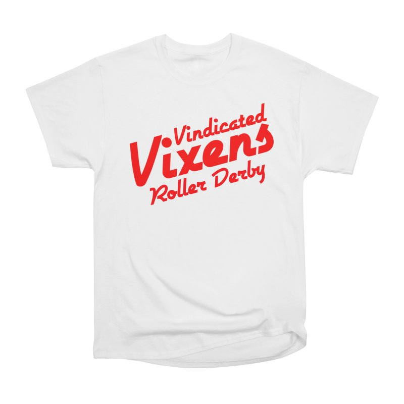 Classic [Red] Women's Heavyweight Unisex T-Shirt by Vindicated Vixens Roller Derby