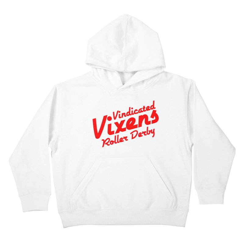 Classic [Red] Kids Pullover Hoody by Vindicated Vixens Roller Derby