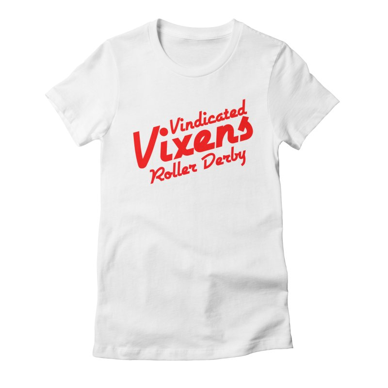 Classic [Red] Women's Fitted T-Shirt by Vindicated Vixens Roller Derby